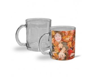 Transparent glass mugs