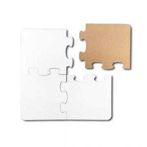 4 pieces wood puzzles (19 x 19 cm)