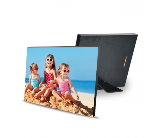 Wood photo-holder 20x15 cm with support