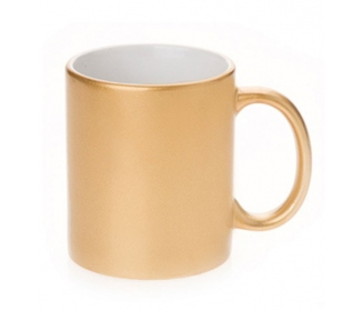 Golden ceramic Mugs