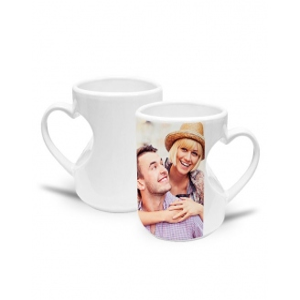 Tasses en céramique coeur