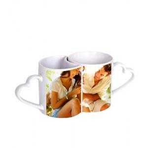 Tazas cerámica pareja corazón