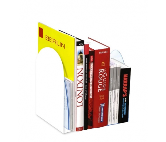 Aluminum supports customizable books