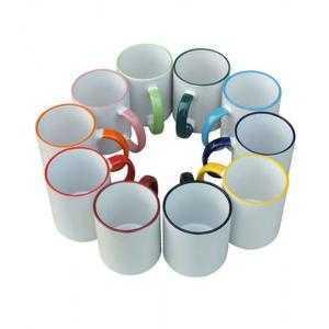 Tasse en céramique bordure et anse de couleur Haute Qualité (A)