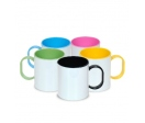 Colored plastic mugs