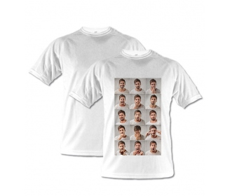 White technical T-shirts for kids