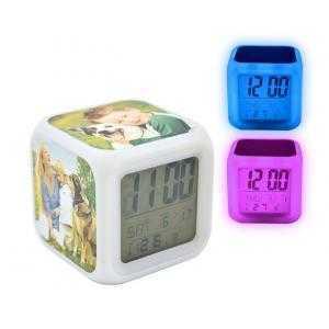Reveil horloge cube led couleurs eclairage
