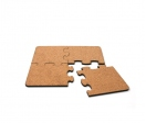 Wood square puzzles of 4 pieces 19x19 cm