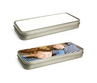 Silver metal pencil box