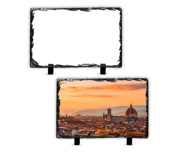 30 x 20 cm rectangular rock slate photo frame