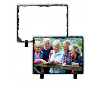 Porte photo ardoise rectangulaire pour sublimation 19 x 14 cm