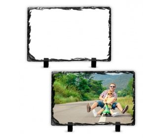 Porte photo ardoise rectangulaire pour sublimation 14 x 8,5 cm