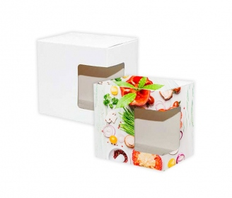 Sublimation mugs boxes with window