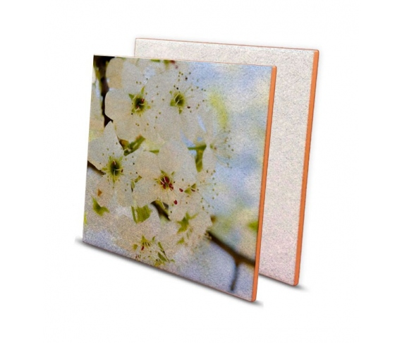 White ceramic tiles with glitter
