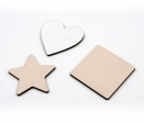 Didactic game of geometric shapes of 6 pieces (with glitter)