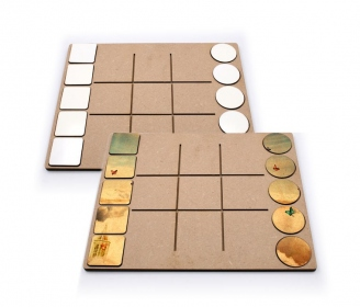 "Didactic games ""noughts and crosses"" of 10 game pieces"