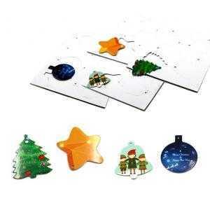Hoja con adornos navideños de 8 unidades (A4)