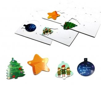 Sheets of 8 christmas ornaments (A4)