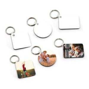 Porte-clés en bois à 2 côtés (différentes formes)