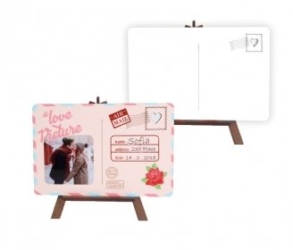 Postal cards with easels