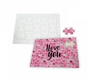 15 pieces heart fitting Puzzle (A4)