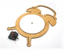 Wooden round alarm clocks