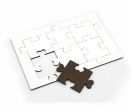 6 pieces heart fitting Puzzle (A4)