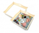 Square wooden trays