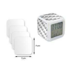 Plaques pastiques pour Reveil horloge cube led couleurs eclairage