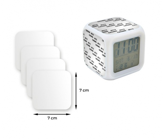 Plastic sheeting for Alarm clock with color light