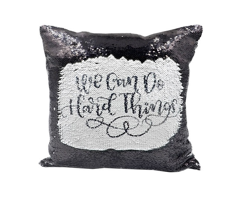 Reversible sequin cushion covers for sublimation