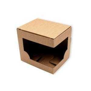 Caja individual con ventana para tazas