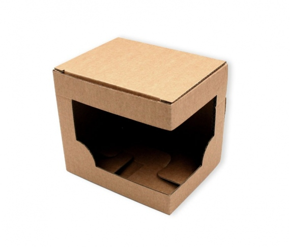 Individual box with window for cups