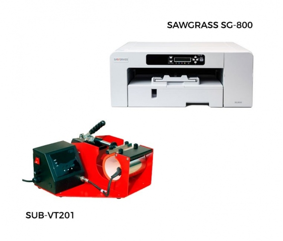 Pack thermal plate for mugs + printer Sawgrass 400