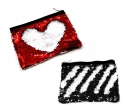 Reversible sequin handbag / toiletry bag