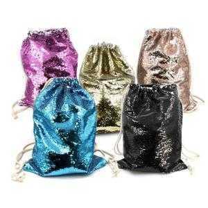 Reversible sequin backpack bag