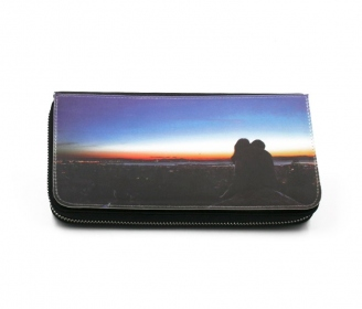 Luxe large zippered wallet (interchangeable front)