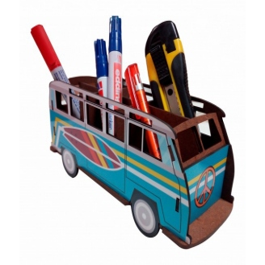 3d puzzle vintage pencil van