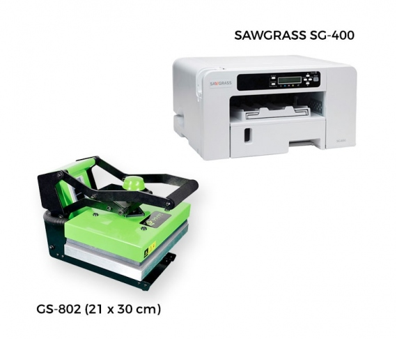 Pack plaque térmique + imprimante Sawgrass 400