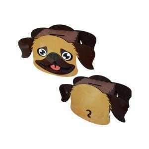 Tirelire en bois en forme de chien