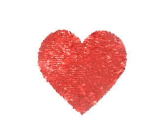 Reversible heart sequin transfer