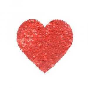 Transfer de lentejuelas reversible corazón