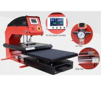 Pneumatic thermal press NX1, with removable plate of 40 x 50 cm