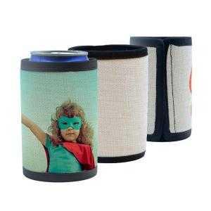 Funda térmicas de neopreno de lino para latas