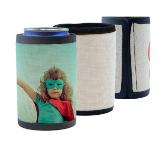 Linen like neoprene thermal cover for cans