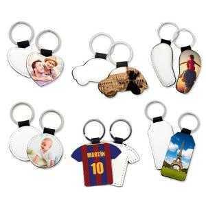 Porte-clés en similcuir (différentes formes)