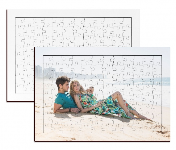 96 pieces wood puzzles with frame ( 20 x 28,5 cm)