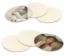 Round cardboard coasters - Pack of 6 pieces