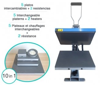 Flat thermal press Neptune GS-602 (Interchangeable platerns & heatings included)
