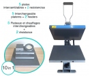 Flat thermal manual press Neptune GS-602 (Interchangeable platerns & heatings)